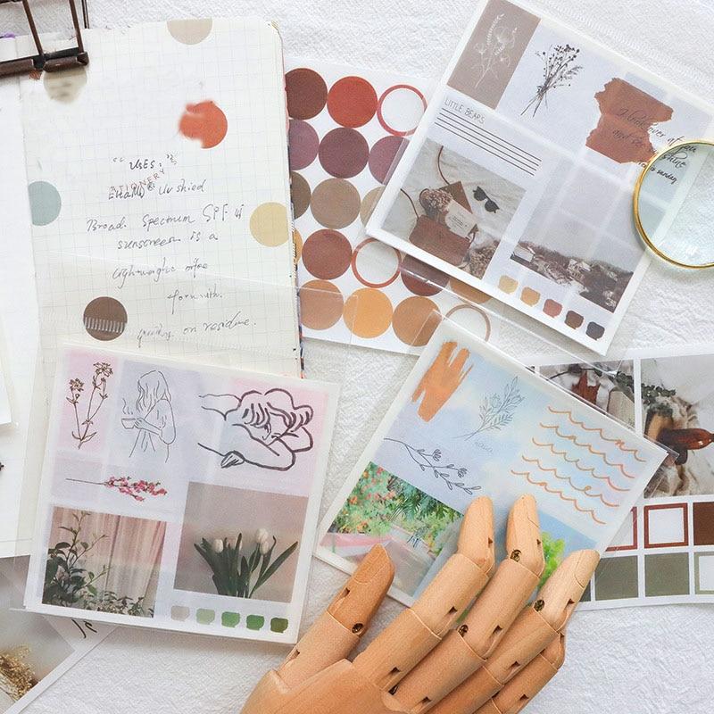 mohamm-handbook-series-kawaii-carino-adesivo-personalizzato-adesivi-diario-di-cancelleria-fiocchi-scrapbook-4pcs-adesivi-decorativi