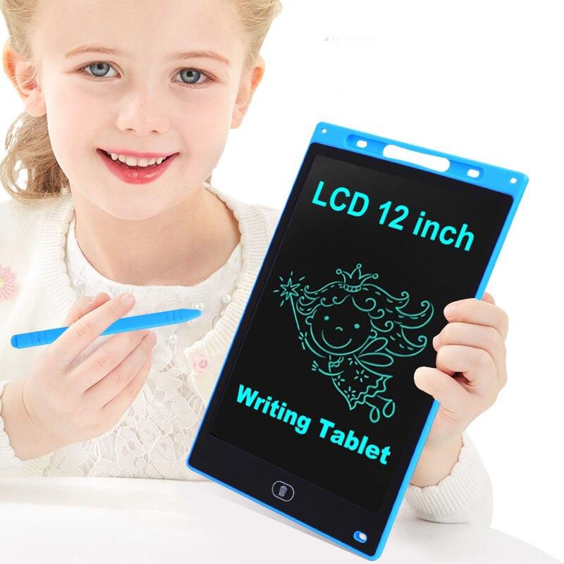 12 بوصة كمبيوتر لوحي LCD بشاشة للكتابة لوح رسم رقمي بخط اليد منصات المحمولة الإلكترونية اللوحي لوح رسم s مع قلم