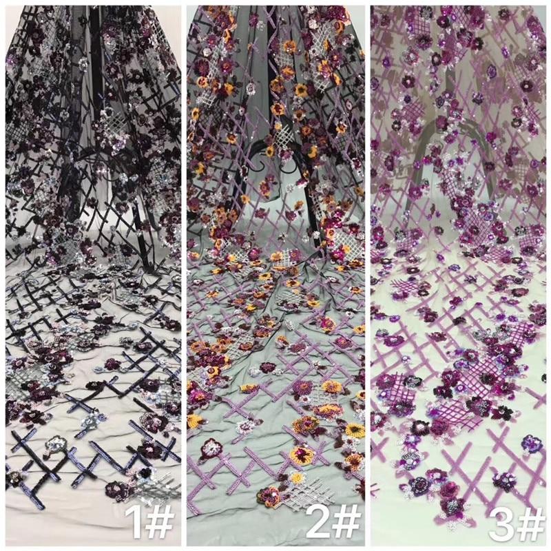 H-98907 Sparkly bordado Tule de Malha de tecido preço de Fábrica lantejoulas tecidos rendas Nigeriano