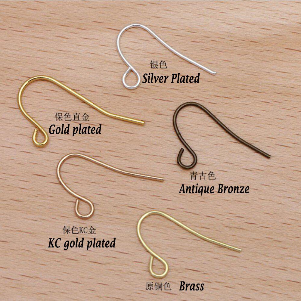 خطافات أذن صغيرة من النحاس النقي ، 1000 قطعة ، إكسسوارات مجوهرات