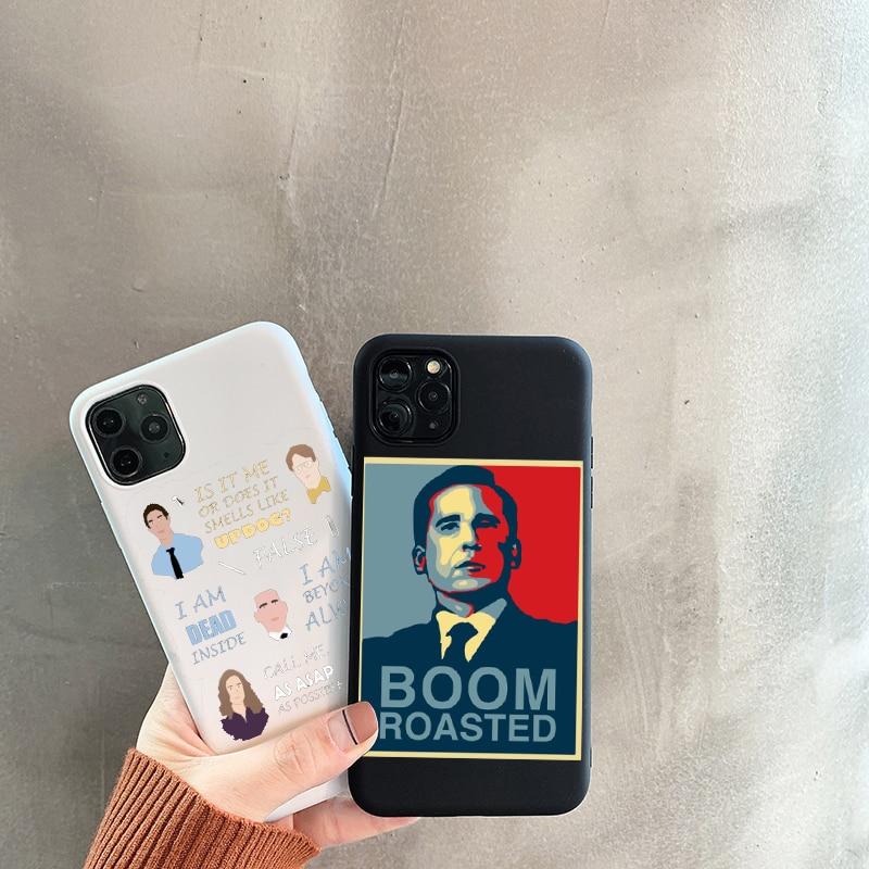 Le bureau série TPU Souple noir coque de téléphone Pour iphone 11 pro max XS MAX 6 6S 7 8 Plus X XR 5S boitier de téléphone se Michael Scott Cas