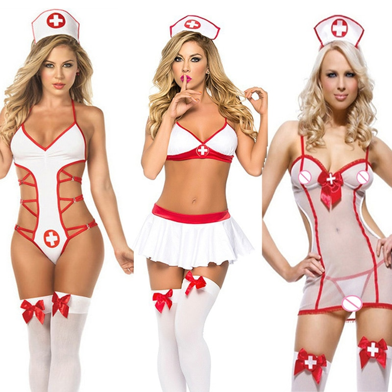 Body Sexy para mujer, ropa interior Sexy para Cosplay, picardías de ropa erótica blanca