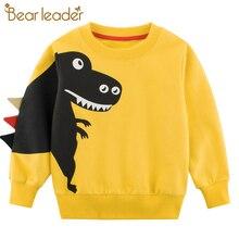 Bear Leader Childrens Clothing 2020 Spring New Kids Boy Girl Clothes Cartoon Dinosaur Princess Patchwork Sweatshirt Clothes 2-7T