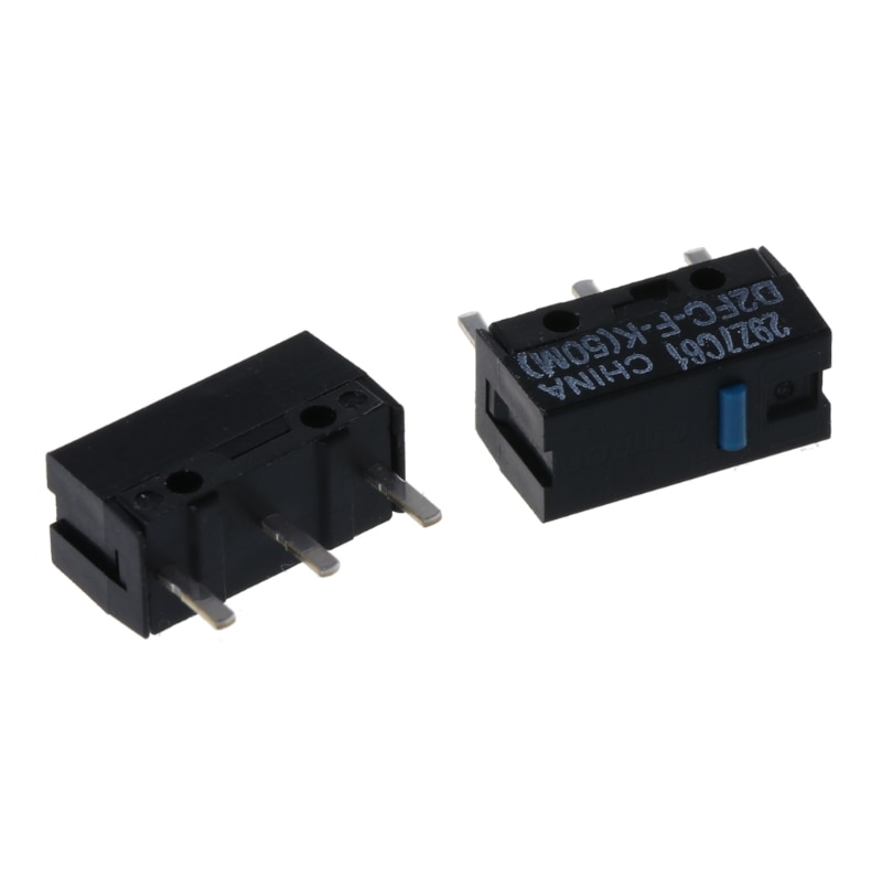 2pcs/pack original OMRON D2FC-F-K (50m) blue dot mouse micro switch new model of 10m 20M 7N series 50 million times lifetime omron mouse micro switch d2f f 3 7 button suitable for 10m 20m 50m steelseries sensei 310 g304 g305 g602 g900 g903 free shipping