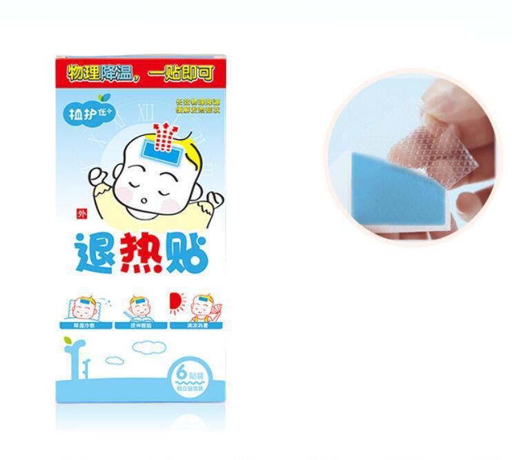 6pcs/set Baby Antipyretic Sticker Ice Treasure Sticker Child Baby Cooling Antipyretic Sticker