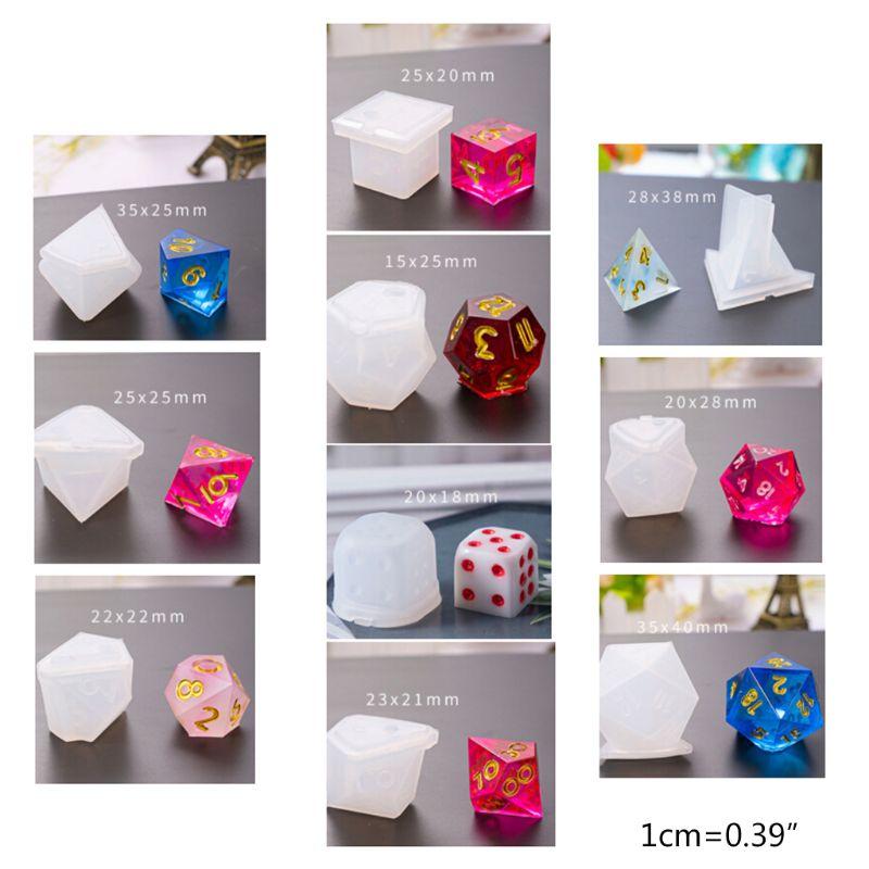 10 unids/set Epoxy transparente Molde de resina UV dado DIY molde manualidades hacer moldes de flores secas resina bricolaje decoración mano artesanía
