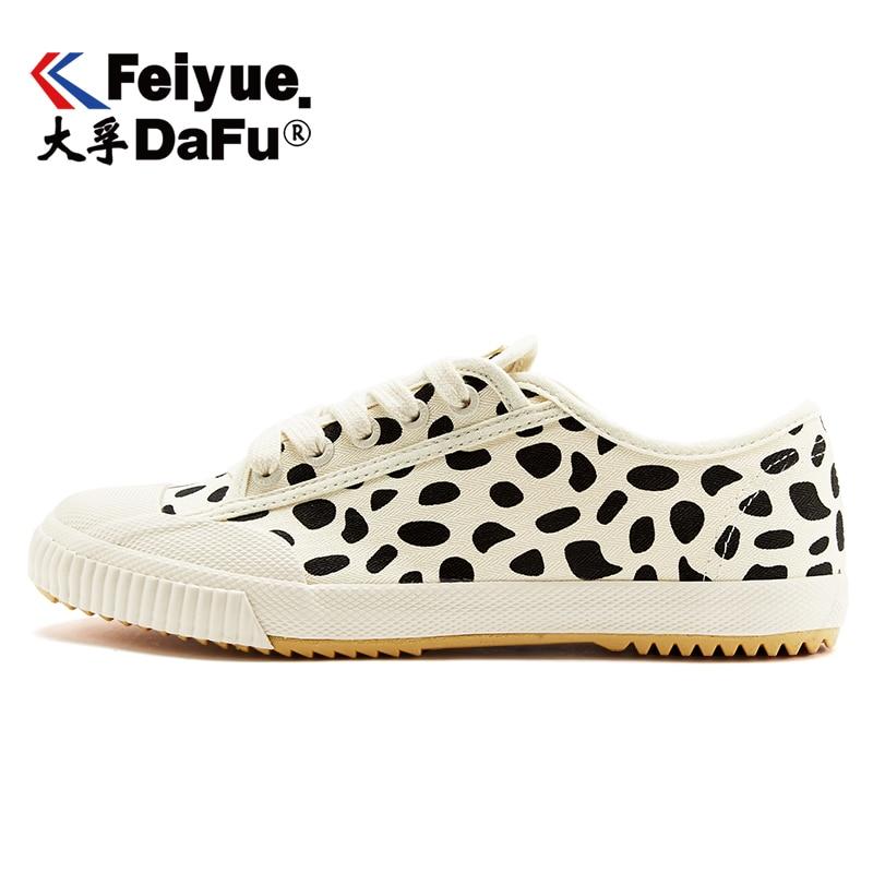 Zapatos de lona DafuFeiyue 2113, zapatos de leopardo, zapatos de mujer, zapatos planos Beige de otoño transpirable, cómodo e informal, zapatillas de moda