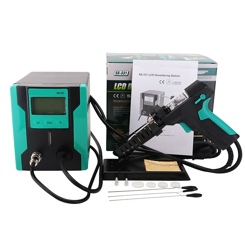 SS-331H automatic electric tin sucker, strong suction pump, electric desoldering and desoldering station, suction gun