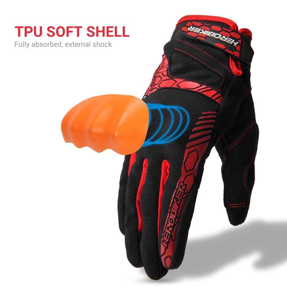 HEROBIKER Motorcycle Gloves Summer Breathable Motocross Racing Gloves Touch Screen Guantes Moto Off-Road Motorbike Riding Gloves enlarge