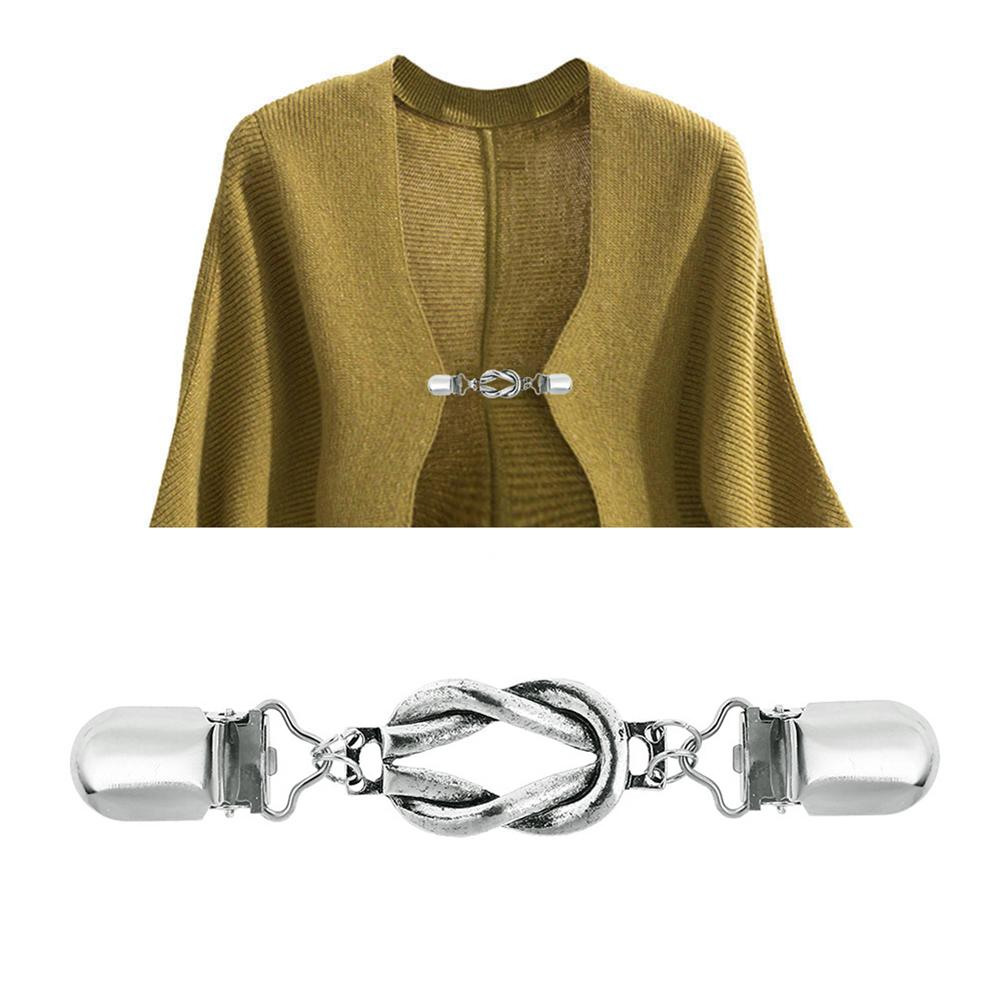 Vintage Alloy Brooch Hollowed Knot Circle Clothing Collar Clips Women Men Cardigan Sweater Pins Wedding Jewelry Accessories Gift