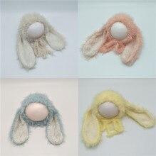 Très joli Bonnet pour nouveau-né lapin   Bonnet à fourrure longue, chapeau de bébé fille et garçon, accessoires de photographie pour bébé, Bonnet Photo pour bébé, accessoires pour nouveau-né