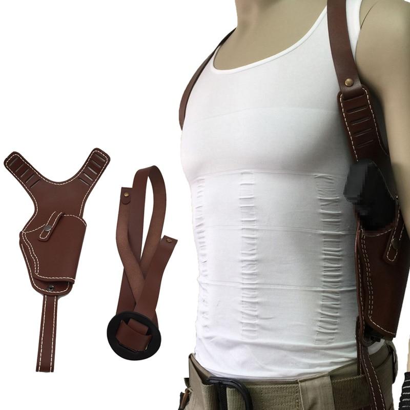 Funda de hombro táctica ajustable accesorios de caza de tiro de mano derecha pistola pistolera bolsa ajuste Glock 17 19 23 28 32