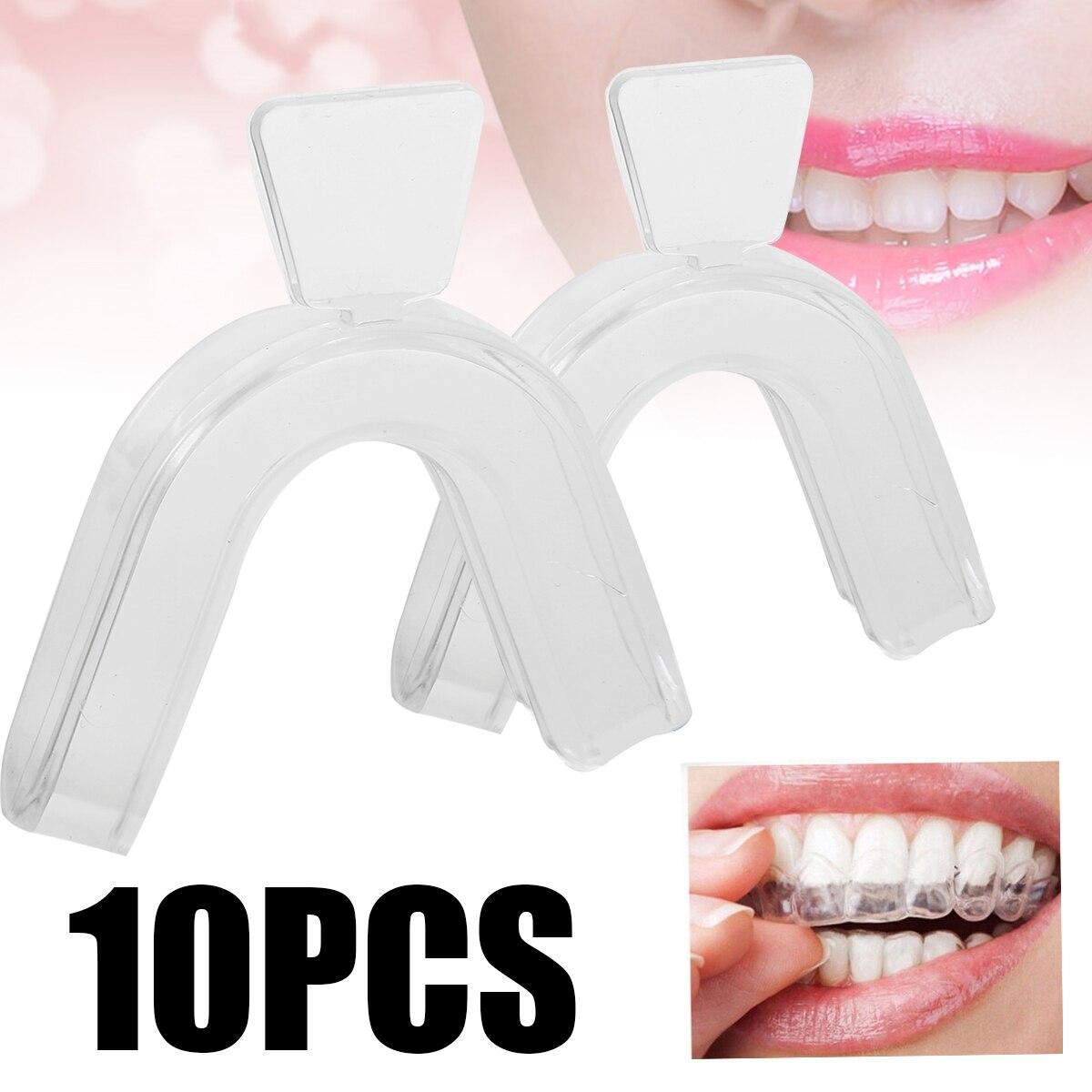 10 шт. силиконовые отбеливающие лотки для зубов, зубная каппа, белые зубные лотки для рта, забота о гигиене полости рта