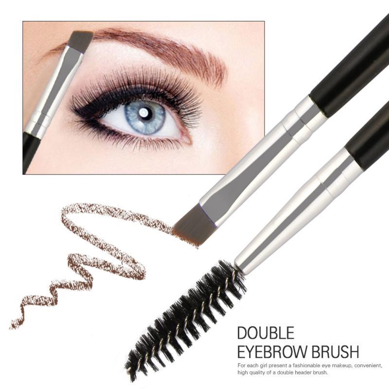 HOT!!Double Head Eyelash Makeup Brush Spiral Eyelash Curl Eyebrow Brush Eyelash Comb  Eyelash Make Up Brush Maquiagem