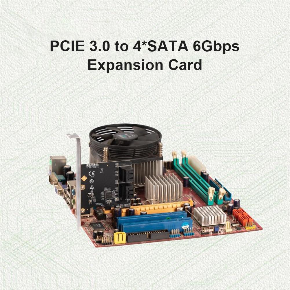 بطاقة توسيع SATA PCIe لمهايئ 4 منافذ SATA 3.0 III to PCI Express 3.0 X1
