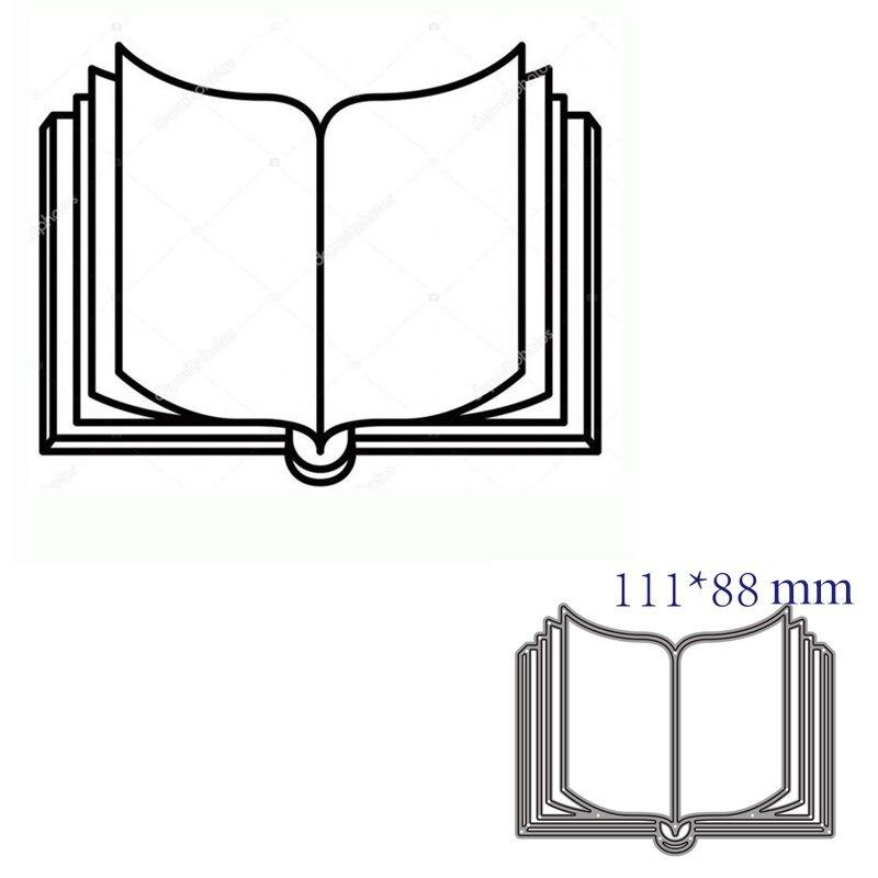 Corte de metal dados corte morrer molde livro decoração scrapbook papel ofício faca molde lâmina punch stencils morrer
