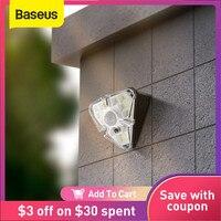 Baseus светодиодный светильник на солнечной батарее, Уличный настенный светильник, водонепроницаемый Солнечный садовый светильник, PIR датчик ...