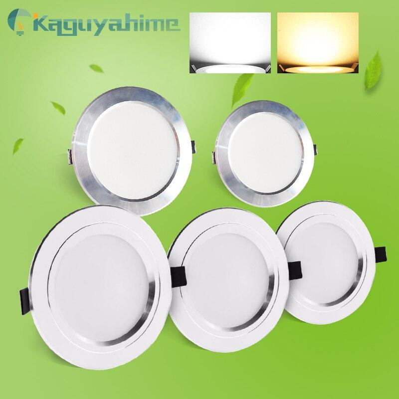 = (K) = diodo emissor de luz downlight 220 v ac 110 v recesso lâmpada led redonda 3 w 5 w 9 15 w 18 w luz de ponto de alumínio branco quente branco frio alto brilhante