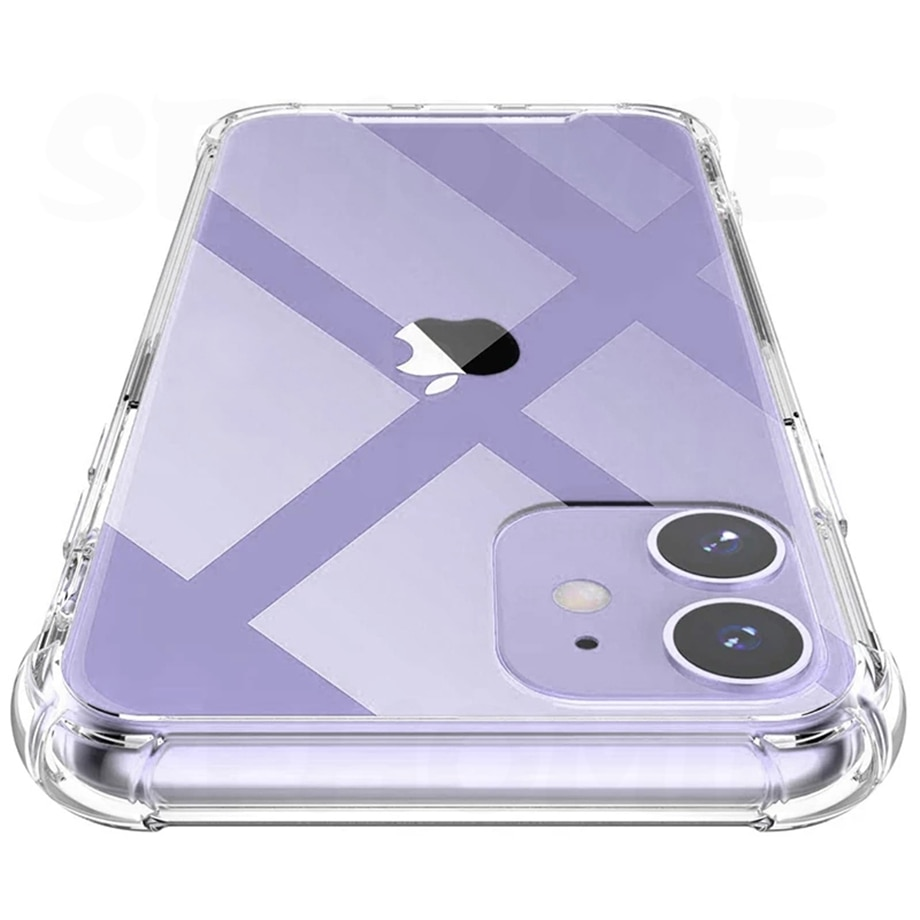 Luxury Transparent Shockproof Silicone Case For iPhone 11 X Xr Xs Max Case 12 11 Pro Max 8 7 6s Plus