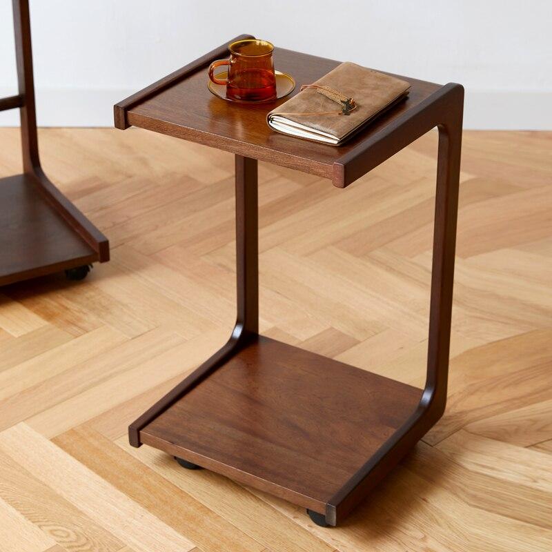 خشب عصري C نوع طاولة القهوة مع عالمي عجلة أريكة السرير طاولات القهوة أثاث غرفة المعيشة المنزل mueble