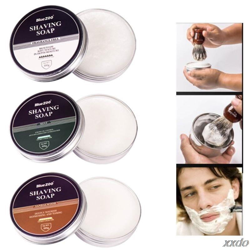 100g Men Shaving Soap Epilator Barber Mustache Beard Hair Removal Foam Cream