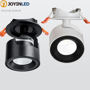 Foldable Recessed LED Ceiling Downlight 12W 20W 30W Black/White Housing 360 Degree Rotatable Background wall light Spot Light