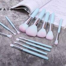 FAYBeauty 12 pièces ensemble de pinceaux de maquillage de haute qualité pinceau de poudre de fond de teint pinceaux de maquillage professionnels cosmétiques de Base pour le visage