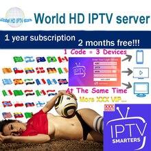 Dünya HD IPTV abone yetişkin IPTV avrupa İspanya tv kutusu MAG X96 M3U Android IPTV akıllı desteği 3 cihazlar
