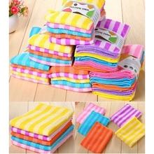 5PCs/ Pack Colorful Microfiber Anti Grease Dish Cloth Fiber Washing Towel Magic Kitchen Cleaning Wiping Rags Towel Pano De Prato