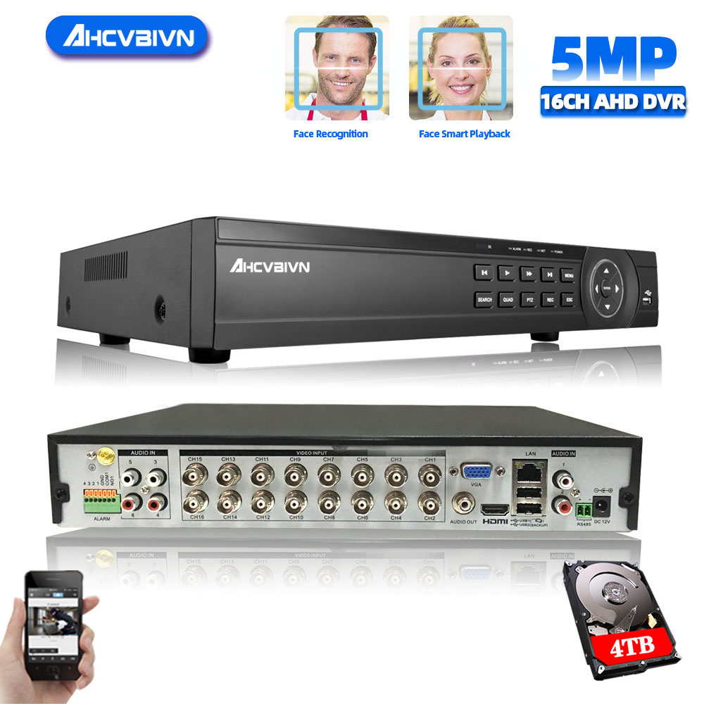 4CH  8CH /16CH AHD Security CCTV DVR H.264 5MP/4MP AHD CVI TVI Analog IP Camera5 5MP 4.0MP Hybrid Video Recorder HD Video Output 8 channel ahd video recorder h 265 5mp 4mp 1080p 5 in 1 hybrid dvr 8ch wifi xvi tvi cvi ip nvr for home cctv camera surveillanc