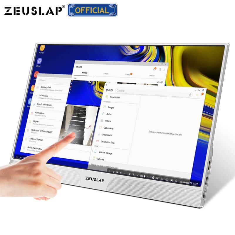 Monitor de pantalla táctil portátil 15,6 FHD 1080p para Ps4 Xbox Switch gaming laptop PC pantalla táctil LCD