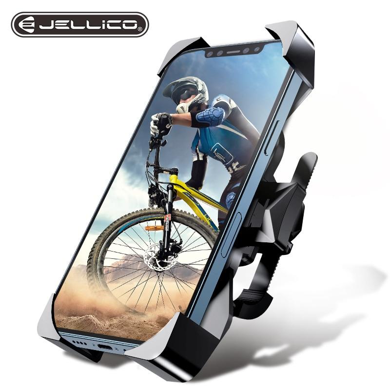 Jellico دراجة حامل هاتف عالمي حامل هاتف المحمول دراجة المقود لتحديد المواقع دراجة نارية قوس حامل آيفون 12 برو سامسونج