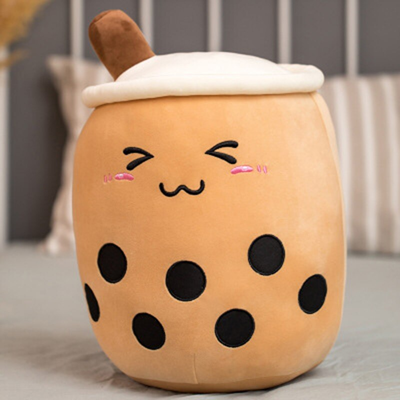 cute soft cartoon bubble tea cup plush toys filled with fashionable drinks pillow straw cute cushion milk tea cup pillow plush Doll Milk Tea Cup Pillow Cushion Kids Toys Birthday Gift Real-life Bubble Tea Cup Plush Toy Pillow Stuffed Food Milk Tea Soft