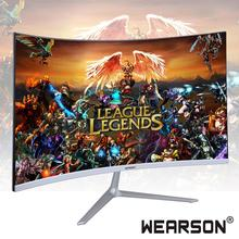 Wearson 23,8 zoll Ultra Dünne Biege 7mm Gebogene Widescreen LCD Gaming Monitor HDMI VGA eingang 2ms Antwort WS238H