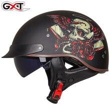 GXT Retro Motorcycle Helmet Vintage Moto Helmet Open Face Scooter Biker Motorbike Racing riding Helmet DOT Approved