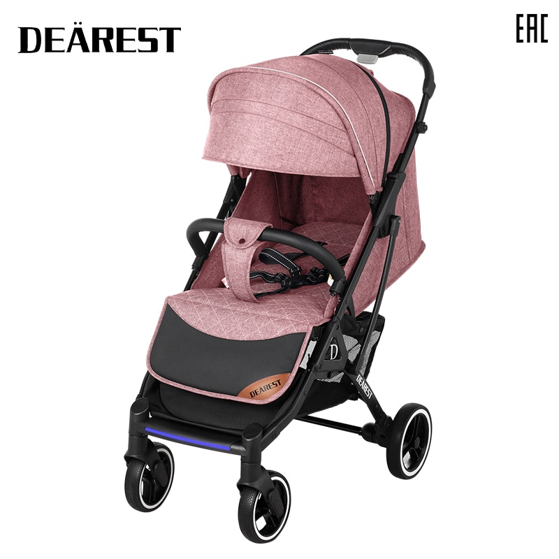 Deareat 819 New 2021 Baby Stroller Lying Down Or Damping Folding Children's Four Seasons Russia Free Checked