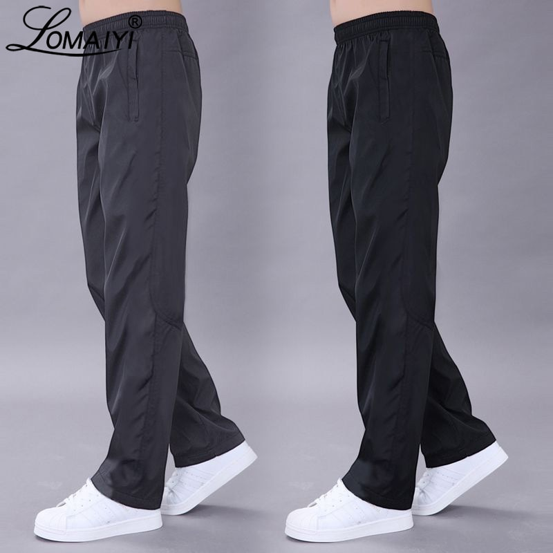 LOMAIYI Plus Size 6XL Men's Casual Pants Men Spring/Autumn Pants Mens Breathable Quick Dry Trousers Male Loose Black Pants AM411