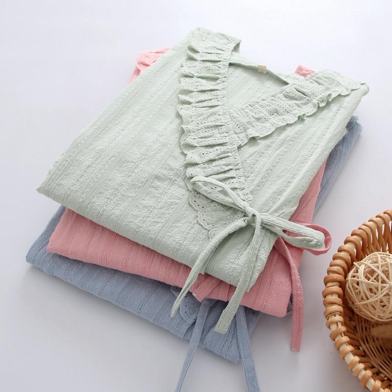 Fdfklak Cotton 2PCS Nursing Mothers Clothes Pregnancy Pijama Nightie Maternity Pajamas New Long Sleeve Nursing Sleepwear