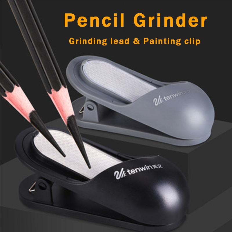Tenwin MS5860 molinillo de lápiz multifuncional/Clip de resorte de pintura/lápiz de boceto de carpeta/lápiz de molienda de plomo de carbón para afilar