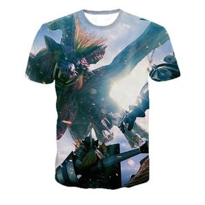 3d Monster Hunter Game t-Shirt Casual Print T-shirt Unisex Funny Short-sleeved Hip-hop Custom Tshirt Oversized 5XL Dropshipping