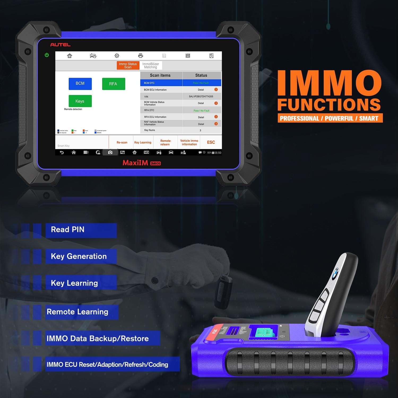 Autel-herramienta de diagnóstico Automotriz IM608, programador ECU Obd2 para coche, programador Profesional