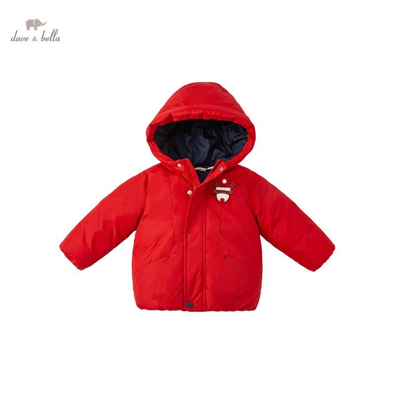 DBX19800 dave bella winter baby unisex fashion cartoon hooded padded coat children kids girls boys t