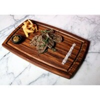 Wooden Steak Board Solid Wood Steak Tray Cutting Board %100 Handmade Chopping Board Oval Chopping Dish Tray İreko Tree