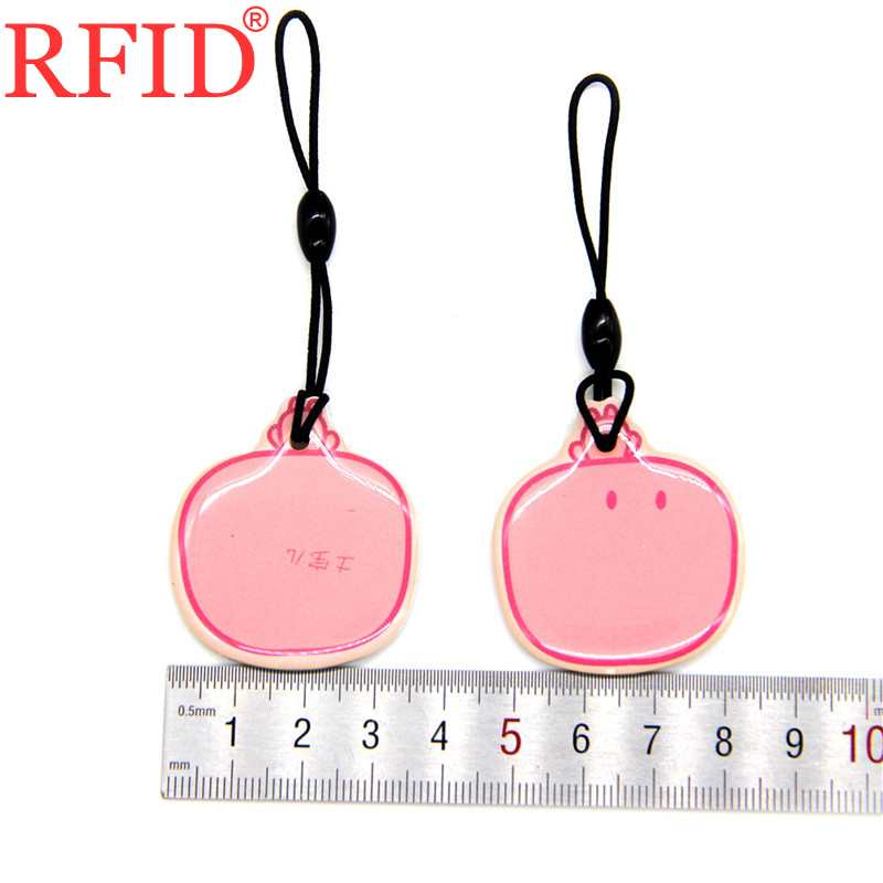 ID 125khz EM4100 TK4100 Read Only Keychain RFID Pink Waterproof Dropping Glue Card Keyfobs Badge Token Tag Access Control Card 1