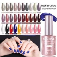 MIZHSE 18ml UV Gel vernis vernis à ongles hybride manucure Gel à ongles pour apprêt blanc imbibé couche de finition UV Gel l laque 1/2 pièces