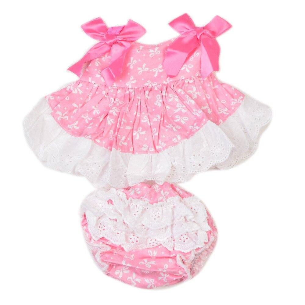 KEIUMI Adorável Bebês Roupas De Bebê Menina Terno Para 22-23 Polegada Renascer Baby Doll Acessórios Vestido Azul e Rosa Pode Ser Escolher