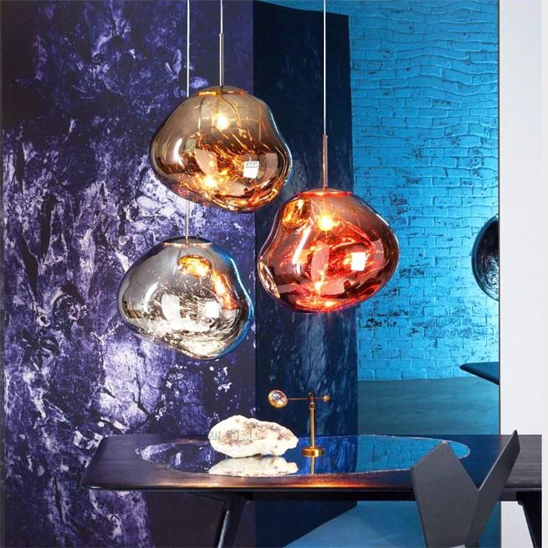 Скандинавское стекло дизайн светодиодный подвесной светильник Бар Ресторан подвесной светильник кутюр светильники для гостиной Лава подв...