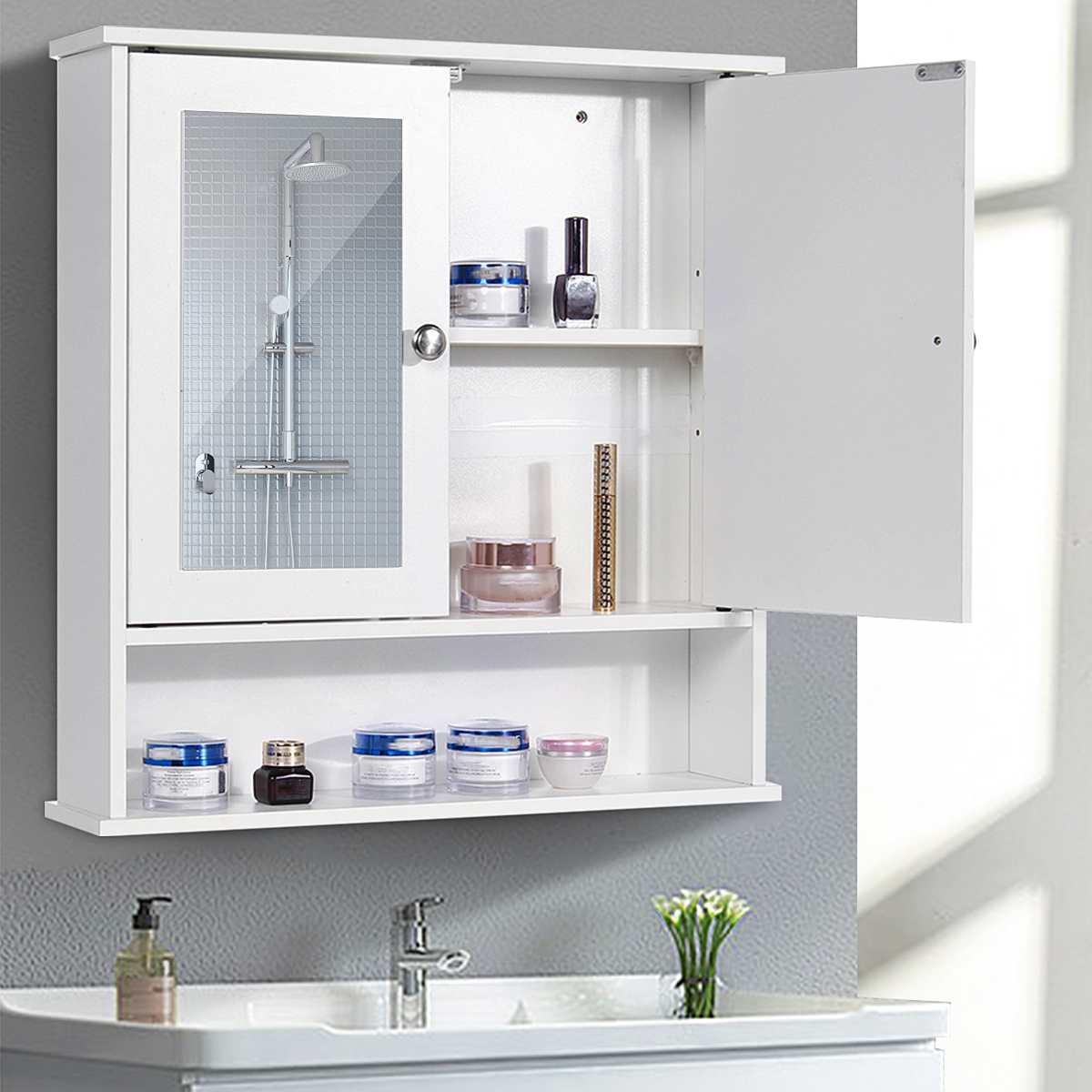 58x56x13cm armário do banheiro com espelho fixado na parede do banheiro móveis de banheiro armário prateleira cosméticos storager