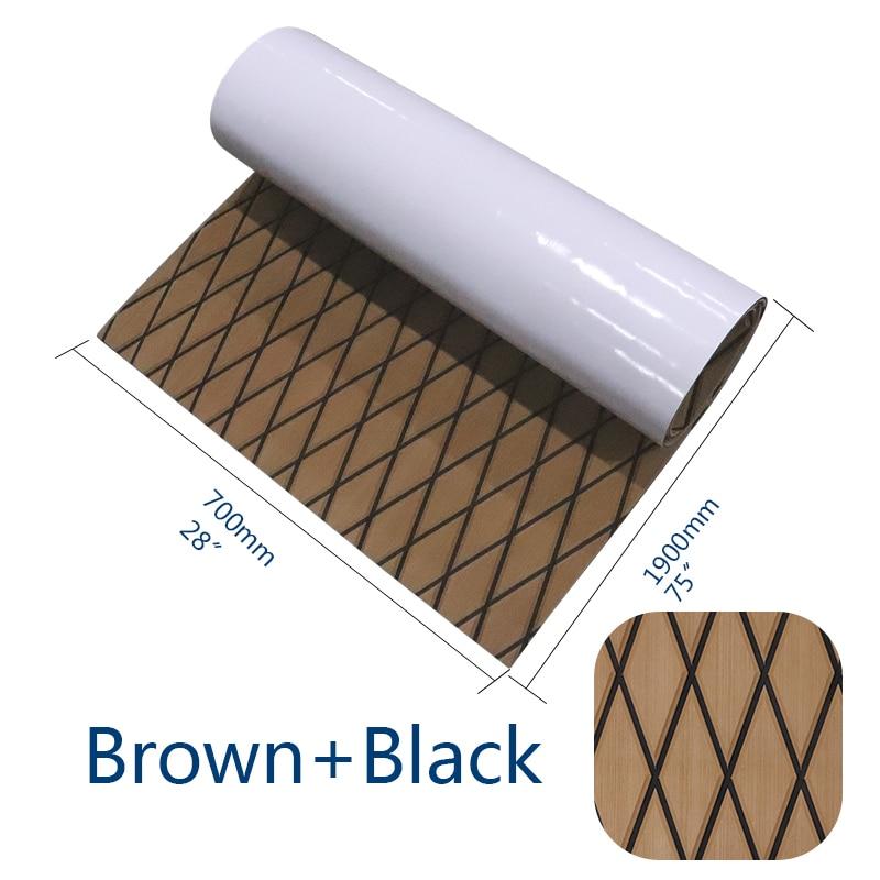 Self Adhesive Non-Skid Boat Flooring Decking Pad EVA Foam Faux Teak Marine Decorative Mat Protective Carpet Boat Accessories