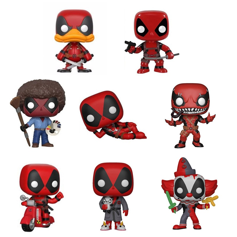 Deadpool Figma muñeca de vinilo 10cm PVC modelo vengadores Deadpool figura Nendoroid Juguetes